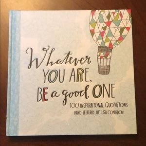 Coffee table inspiring quote book